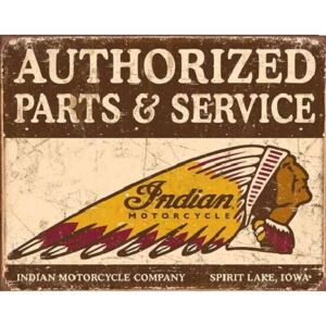 Indian motorcycles - Authorized Parts and Service Metalni znak, (40 x 31,5 cm)