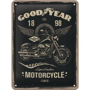 Buvu Metalna tabla: Good Year (Motorcycle) - 20x15 cm