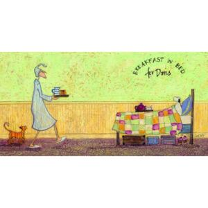Sam Toft - Breakfast in bed for Doris Slika na platnu, (100 x 50 cm)