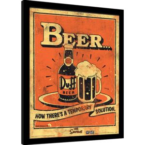 Uramljeni poster The Simpsons - Beer…