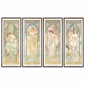 Mucha, Alphonse Marie - The Times of the Day; Les heures du jour (a set of four), 1899 Reprodukcija umjetnosti