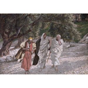 James Jacques Joseph Tissot - The Disciples on the Road to Emmaus, illustration for 'The Life of Christ', c.1884-96 Reprodukcija umjetnosti