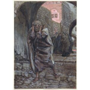 James Jacques Joseph Tissot - Peter Went Out and Wept Bitterly, illustration for 'The Life of Christ', c.1886-94 Reprodukcija umjetnosti