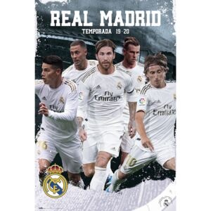 Poster Real Madrid 2019/2020 - Team Action, (61 x 91,5 cm)