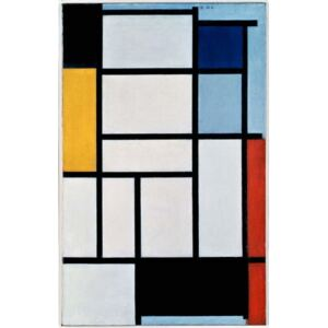 Mondrian, Piet - Composition with red, black, yellow, blue and grey, 1921, by Piet Mondrian , oil on canvas. Netherlands, 20th century. Reprodukcija umjetnosti