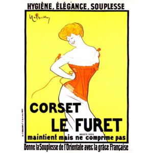 Cappiello, Leonetto - Corset print ad by Leonetto Cappiello around 1901 Reprodukcija umjetnosti