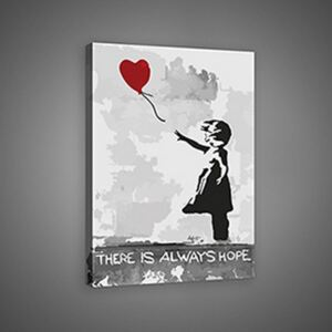Buvu Slika na platnu: There is Always Hope (graffiti) - 75x100 cm
