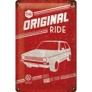 Buvu Metalna tabla - VW The Original Ride (crvena)
