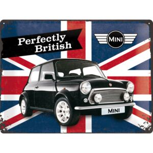 Buvu Metalna tabla - Mini Cooper (Perfectly British)