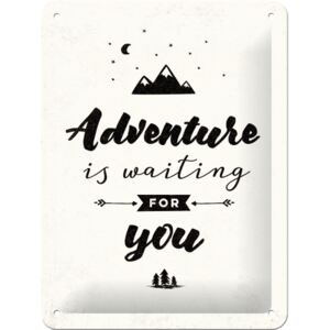 Buvu Metalna tabla - Adventure is Waiting for You