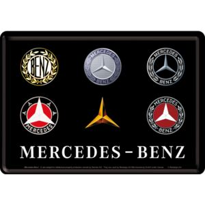 Buvu Metalna razglednica - Mercedes-Benz (Logo Evolution)