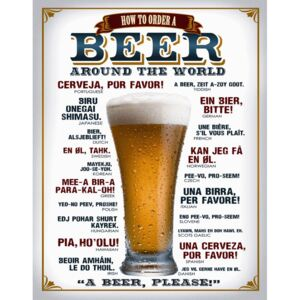 Metalna tabla - Beer (around the world)