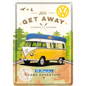 Buvu Metalna razglednica - VW Let's Get Away