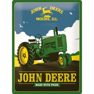 Buvu Metalna tabla: John Deere (Made With Pride) - 30x40 cm