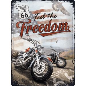 Buvu Metalna tabla: Route 66 (Freedom) - 30x40 cm