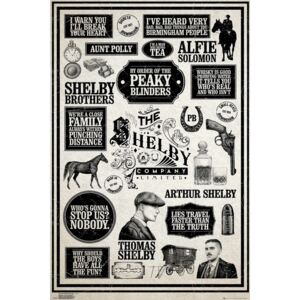 Peaky Blinders - Infographic Poster, (61 x 91,5 cm)
