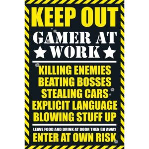 Poster Gaming - keep out, (61 x 91,5 cm)