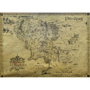 Poster The Lord Of The Rings - Middle Earth Map (special), (65.5 x 46.5 cm)