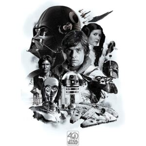 Poster Star Wars - Montage (40th Anniversary ), (61 x 91,5 cm)