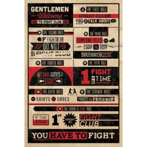 FIGHT CLUB RULES INFOGRAPHIC Poster, (61 x 91,5 cm)