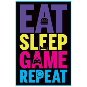 Eat, Sleep, Game, Repeat - Gaming Poster, (61 x 91,5 cm)