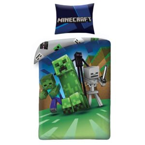 HALANTEX posteljina Minecraft Monsters Pamuk, 140/200, 70/90 cm