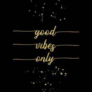 Good Vibes Only | Gold, (85 x 128 cm)