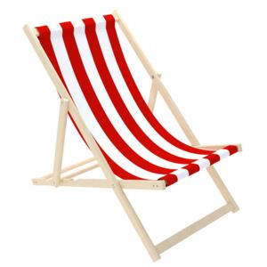 Stolica za plažu Stripes - crveno-bijela Red-White Stripe