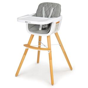 Blagovaonska stolica Olivia 2u1 - siva High chair - grey