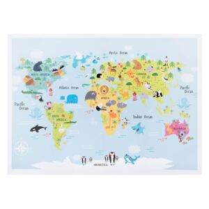 Slika Kids World map 80x60cm
