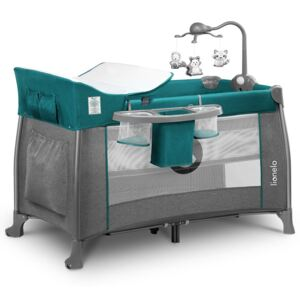 Lionelo Holiday bed Thomi Green Turguoise plava siva