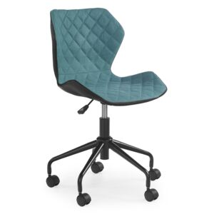Matrix studentska stolica - crno-tirkizna office chair