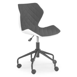 Matrix studentska stolica - bijelo-crna office chair