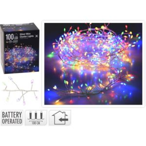 SREBRNA ŽICA SA 100LED MULTICOLOR KOOP