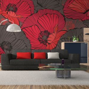 Foto tapeta - Pleated poppies