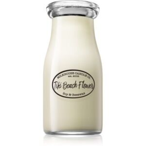 Milkhouse Candle Co. Creamery Tiki Beach Flower mirisna svijeća Milkbottle 226 g